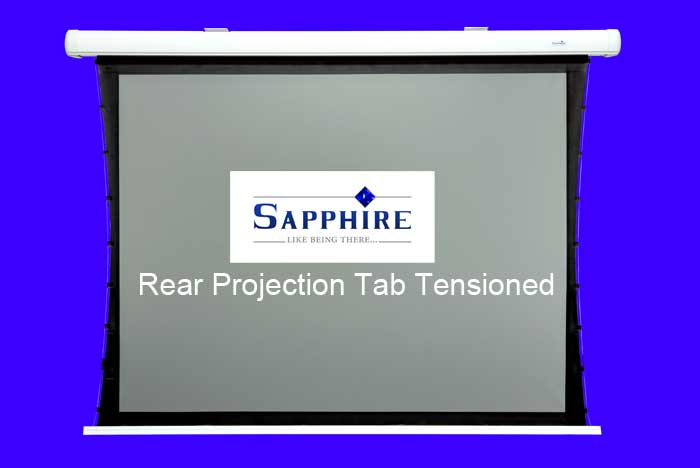 Sapphire 1.7m rear projection electric screen 4:3