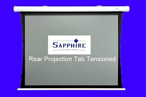 Sapphire 2m rear projection tab tensioned electric wall screen 4:3 format
