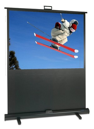"Sapphire Portable Pull-up 80"" Projection Screen, 1.625m x 1.22m  VALUE RANGE  Approx Case Dimensions L 1930mm x H 83mm x D 61mm"