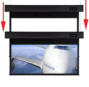 Sapphire Smart Move 4m 16:10 Two Motor Electric Projection Screen Approx Case Dimensions L 4317mm x H 250mm x D 170mm