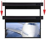 Sapphire Smart Move 2m 16:10 Viewing Area 2327mm x 1268mm Two Motor Electric Projection Screen Approx Case Dimensions L 2327mm x H 173mm x D 133mm