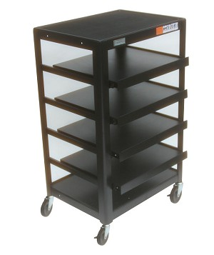 AV/General Purpose Trolley 42 inch Five Shelves (Four Sliding)